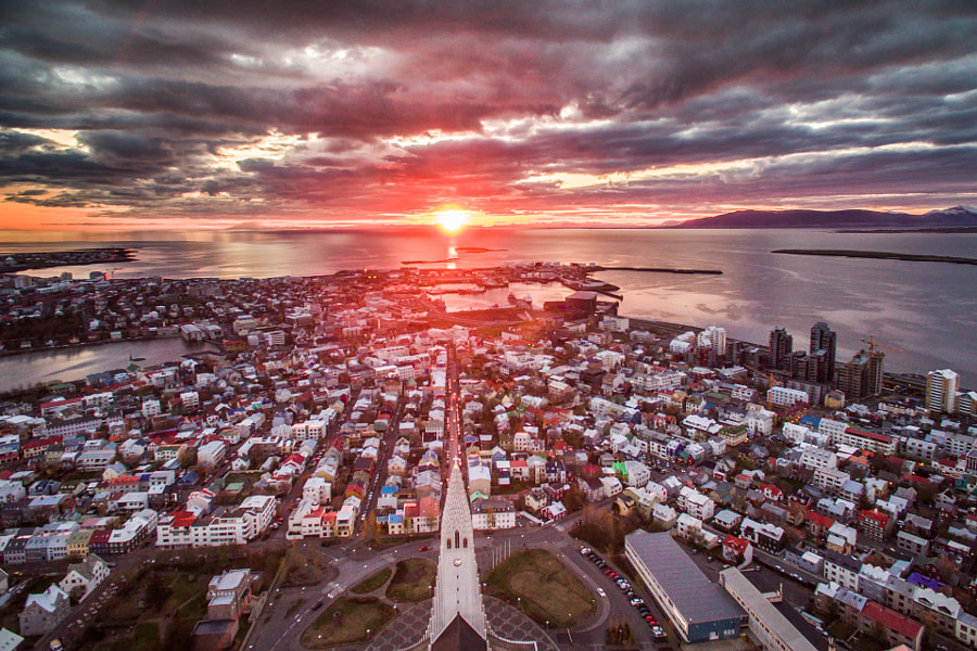 Reykjavik Midnight Sun by OZZO Photography on 500px.com