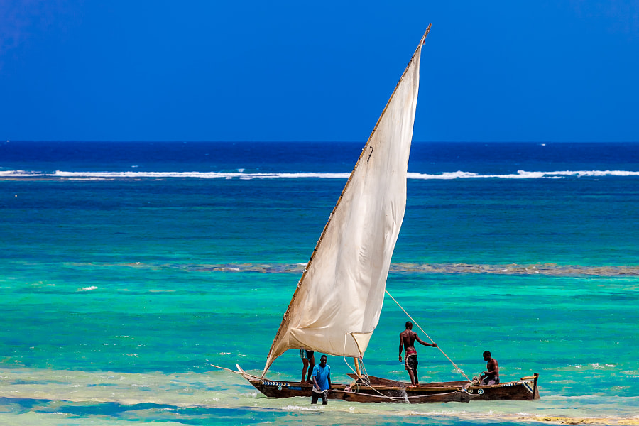 Photograph Traditional Swahili sailboat by Andras Porffy on 500px