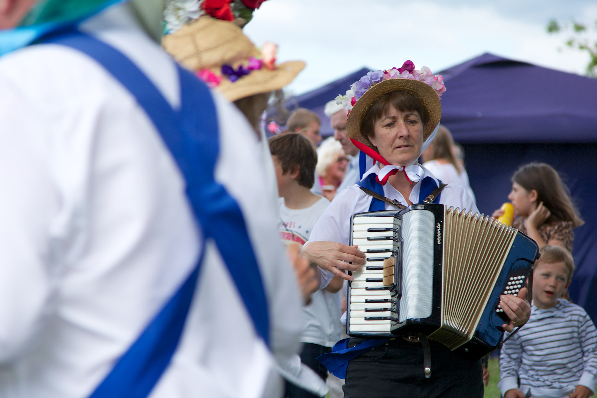 Photograph Morris Dancer Accordianist by Eoin Looney on 500px