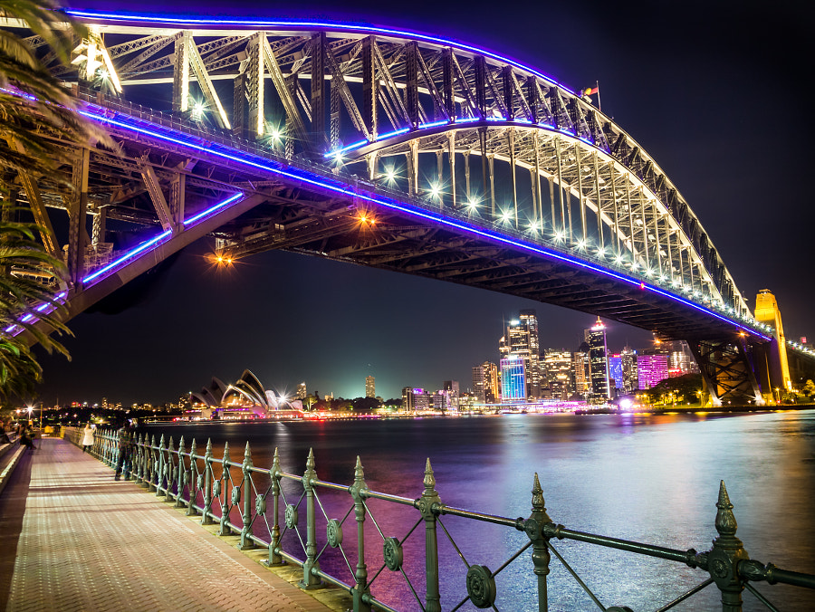 Photograph Vivid Sydney 2015 Kirribilli Sydney Harbour Bridge by Travis Chau on 500px