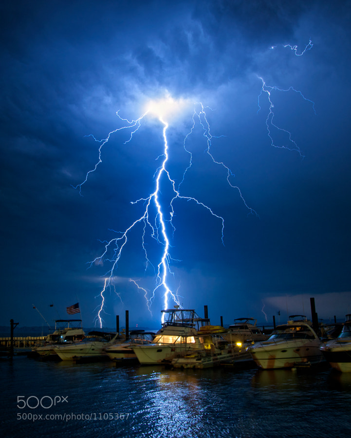 Photograph Lightning Boats by Jamie Betts Photo on 500px
