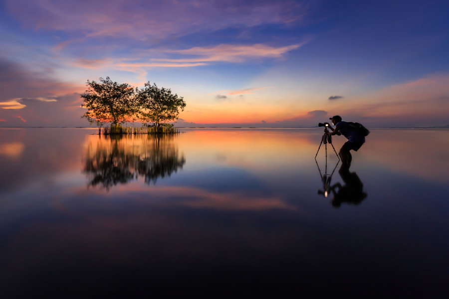 Photograph Photographer in lake by chaisit rattanachusri on 500px