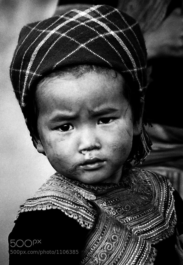 Photograph Flower Hmong Hill Tribe Girl by Jillian Mitchell on 500px