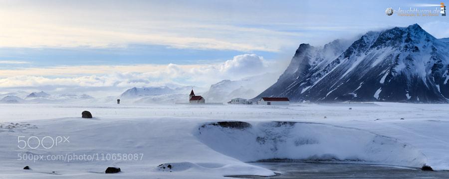 Staðarstaður kirke in winter light