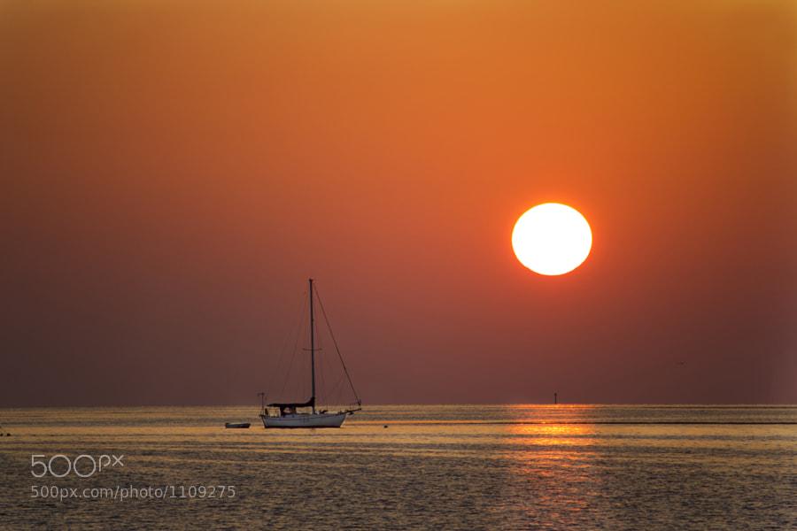 Sun Setting in Key West, FL