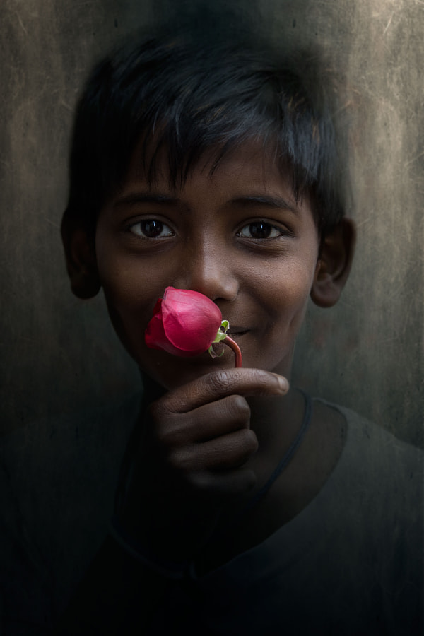 The boy with a flower by Gianstefano Fontana Vaprio on 500px.com
