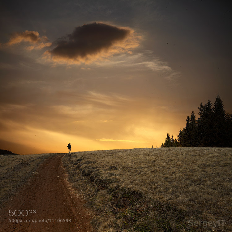 Photograph hiker silhouette on the hill by Sergiy Trofimov on 500px