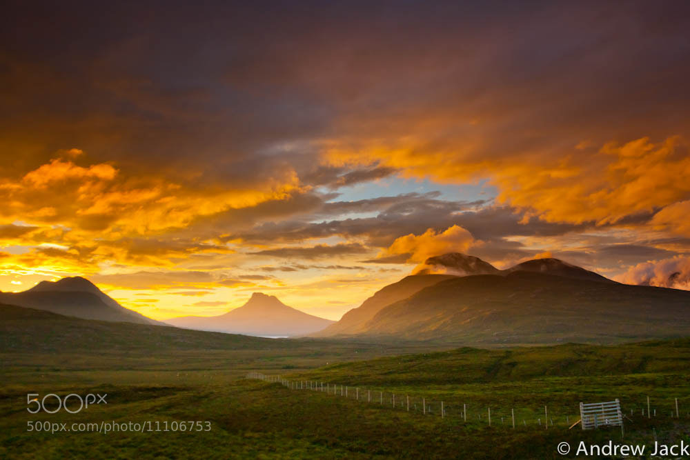 Photograph Stac Pollaidh in the gloaming by Andrew Jack on 500px