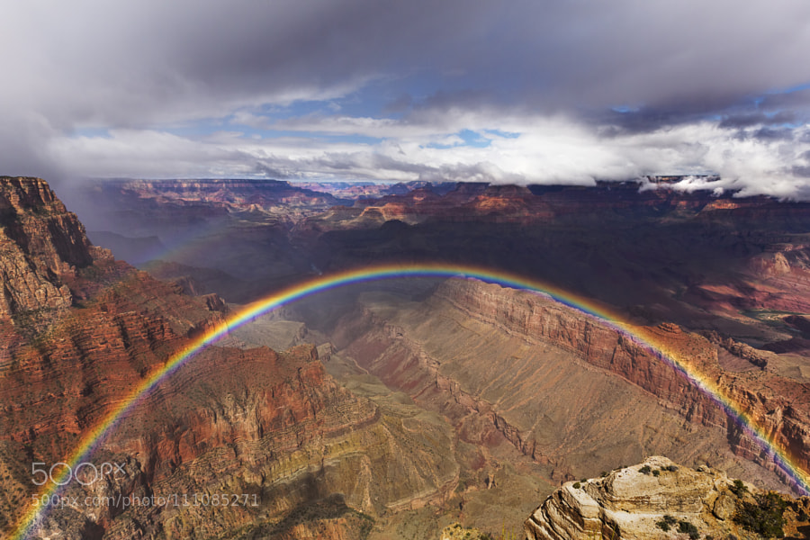 Rainbow at the Grand Canyon National Park by Marc-AndreRheaume
