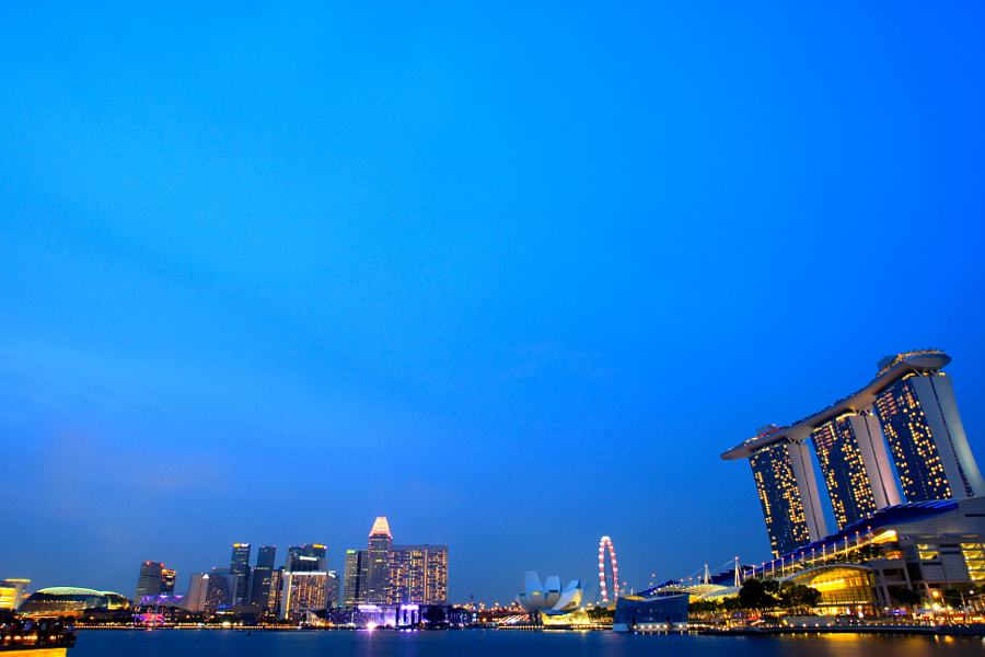 The Blue Hour of Marina Bay Singapore