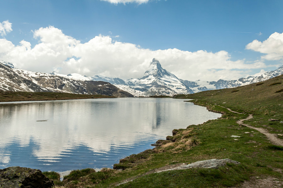 Photograph Matterhorn over the lake by Paweł M on 500px