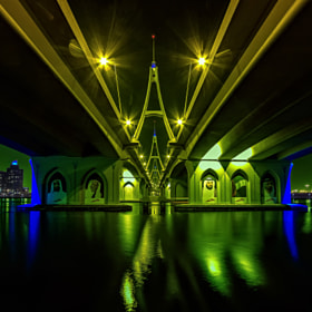 D' Color's Of D' Night Under D' Bridge by anthony mejia on 500px.com