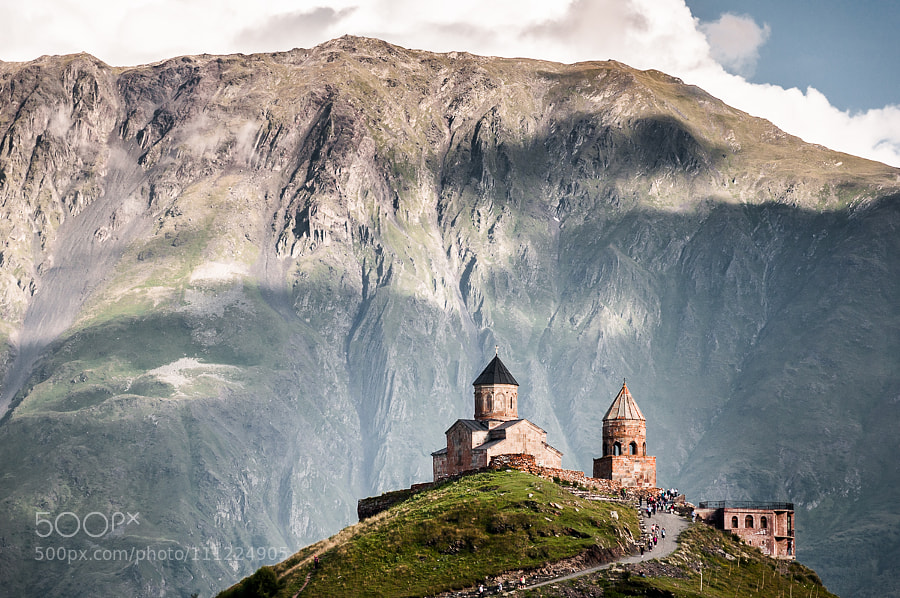 Gergeti Trinity Church, Georgia by nobz | birdmanps