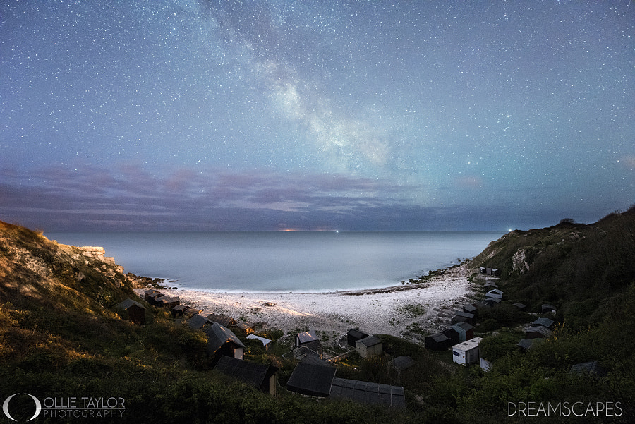 Photograph Milky Way over Church Ope Cove by Ollie Taylor on 500px