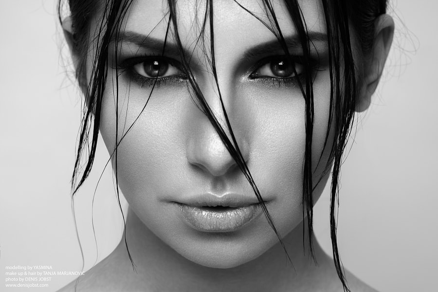 Black and white portraits - Photograph mina by Denis Jobst on 500px