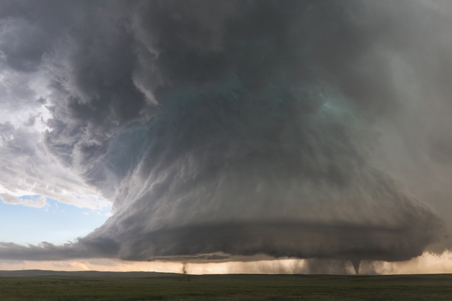 Sister Tornados Under Supercell by Kelly DeLay on 500px.com