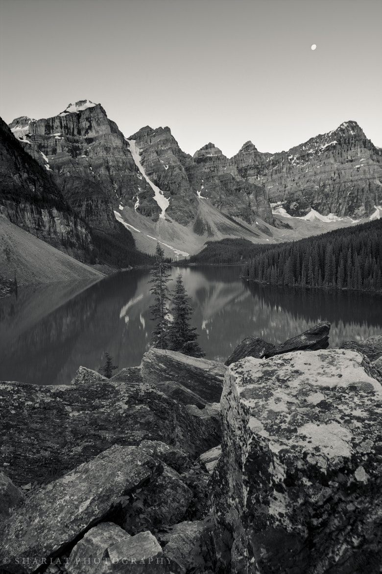 Photograph Moraine Lake in B&W by Navid S on 500px