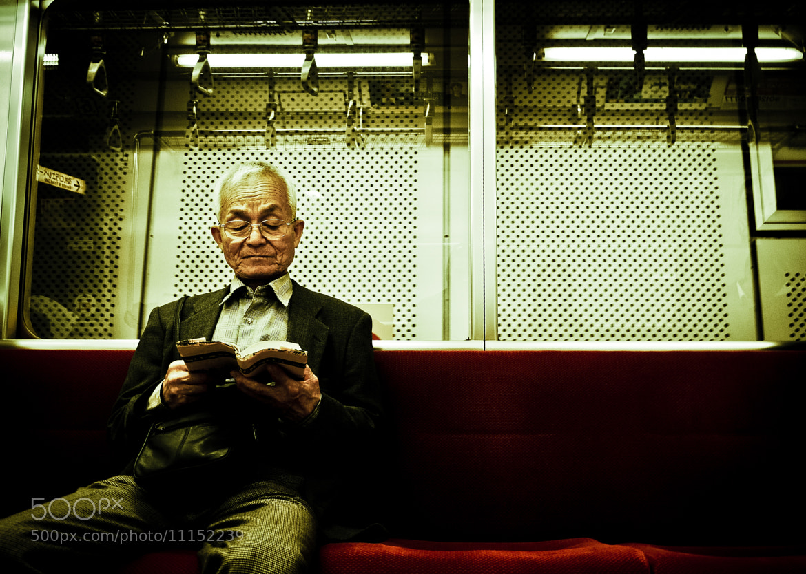 Photograph Old man on the Tokyo Metro by Jayrad MD on 500px