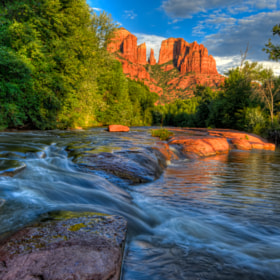 Cathedral Butte from Oak Creek by Michael Wilson (Arizona)) on 500px.com
