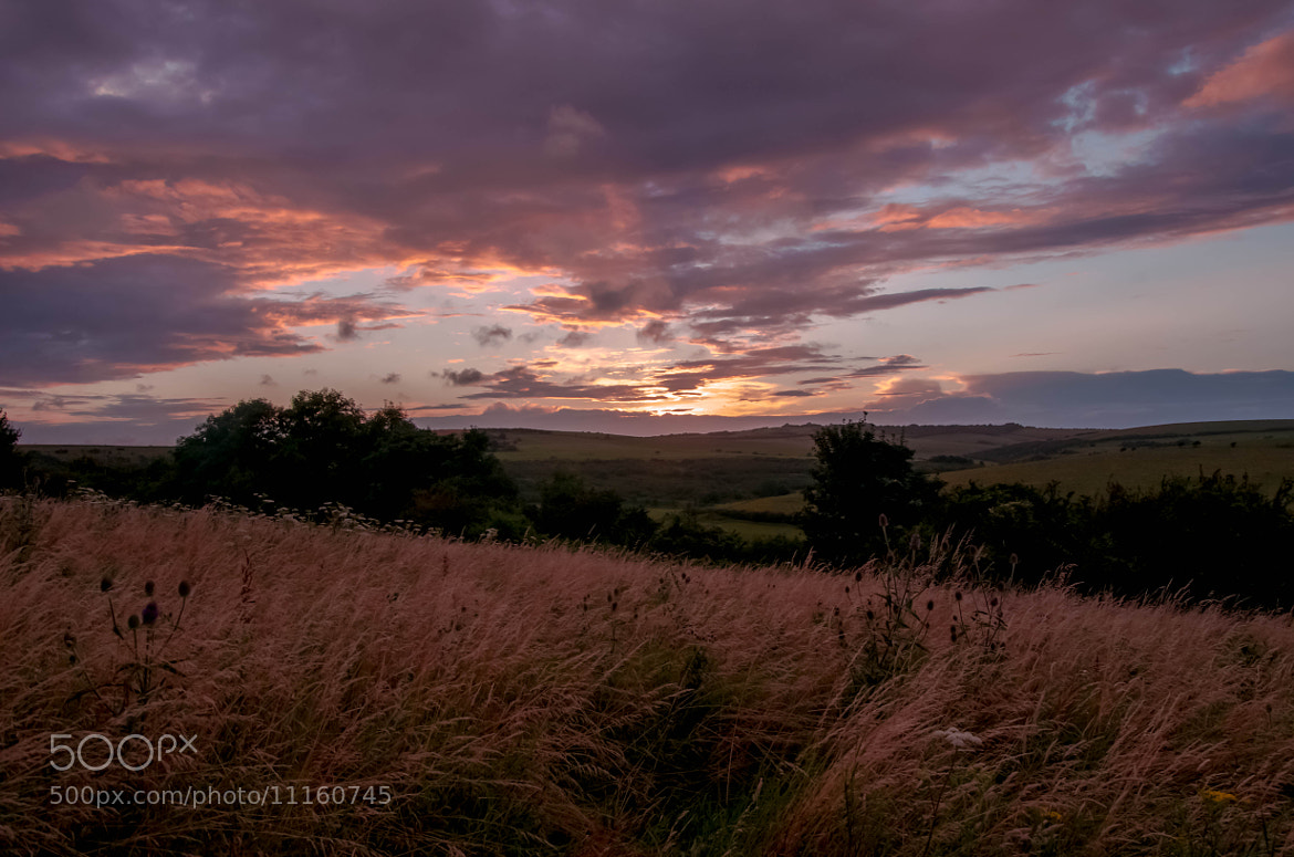Photograph Sunset over the South Downs by julian john on 500px