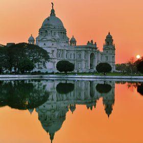 The Setting Sun@Victoria!! by Palash Kundu (Palash11)) on 500px.com
