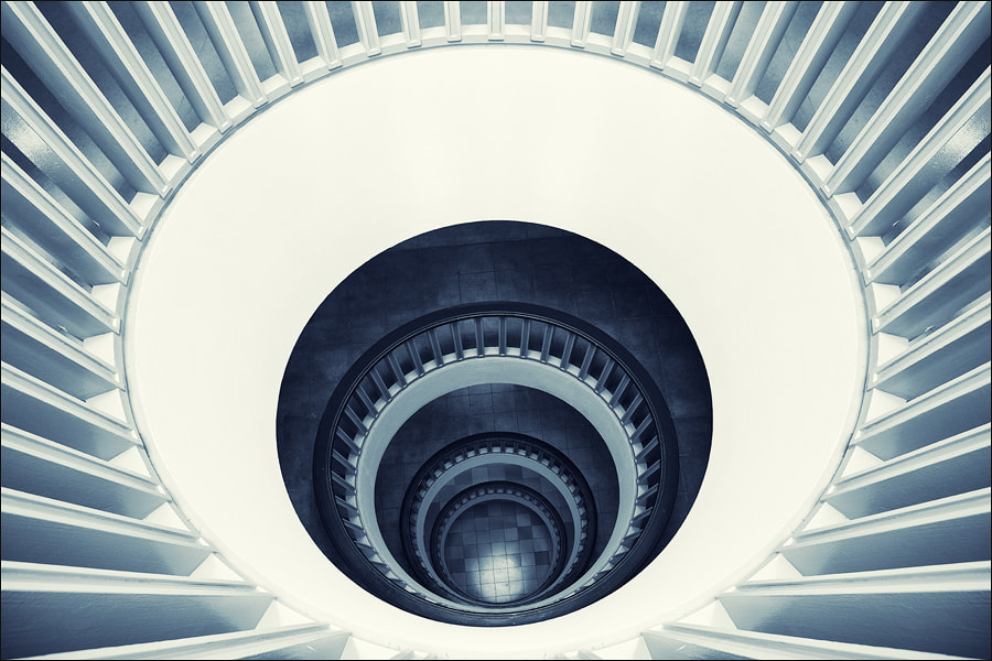 Photograph Blue Stairs by Hasel Hoernchen on 500px