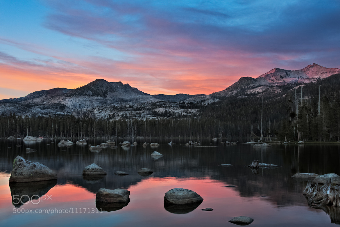 Photograph Wrights Lake Sunset, Desolation Wilderness by jared ropelato on 500px