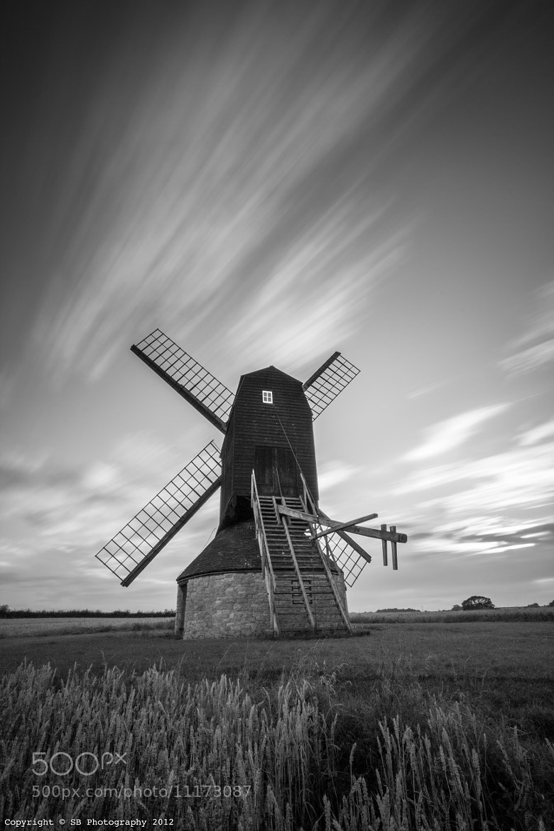 Photograph BW Stevington Windwill by Sean Byrne on 500px