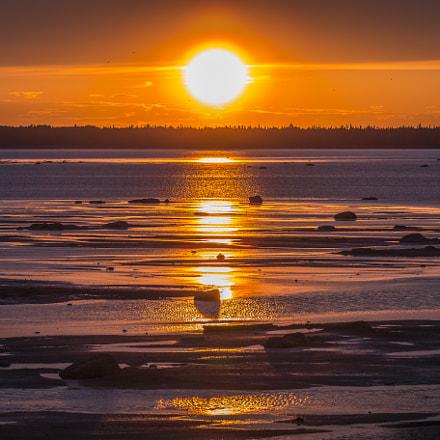 Coucher de soleil sur Rimouski