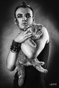 Gothic boy and cat. by Klassy Goldberg on 500px