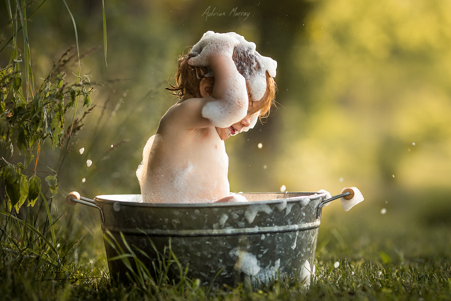 Photograph Bath Time Splash by Adrian C. Murray on 500px