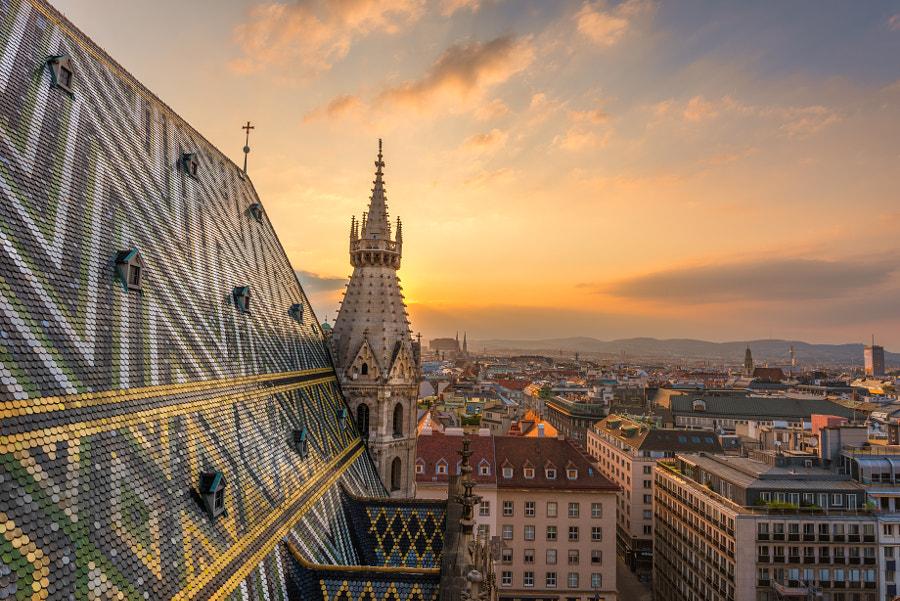 View from the St. Stephens Church by Christian Thür on 500px.com