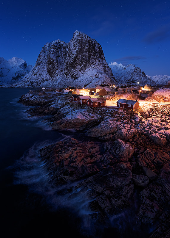 Photograph Hamnoy twilight by Felix Inden on 500px