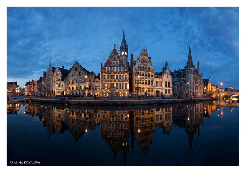 Photograph Ghent by night by Anna Kovaleva on 500px