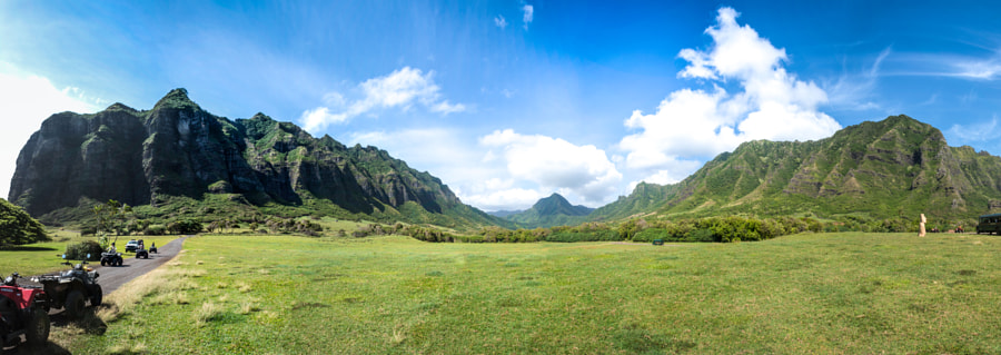 Photograph Panorama of Kualoa Ranch, Oahu, Hawaii by John White on 500px