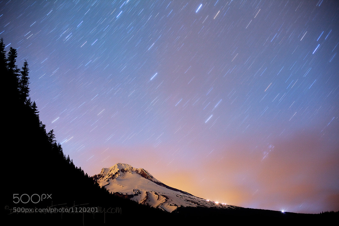 Photograph Mount Hood Star Storm by Darren  White on 500px
