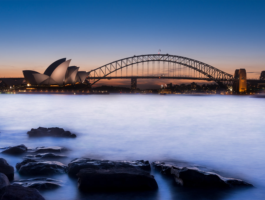 Photograph Mrs Macqaurie Point Sunset by Travis Chau on 500px