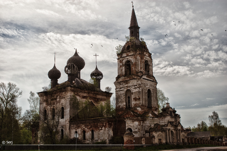 Photograph destroyed church  by Sergey Tikhomirov on 500px