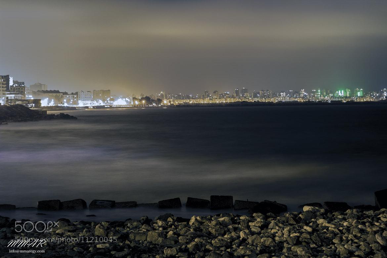 Photograph Alexandria Coastal night vision by Mohamed Moustafa ( ABDO ) on 500px