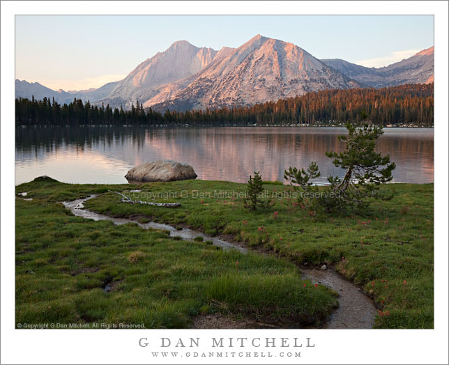 Photograph Sunset, Mount Conness and Lower Young Lake by G Dan Mitchell on 500px
