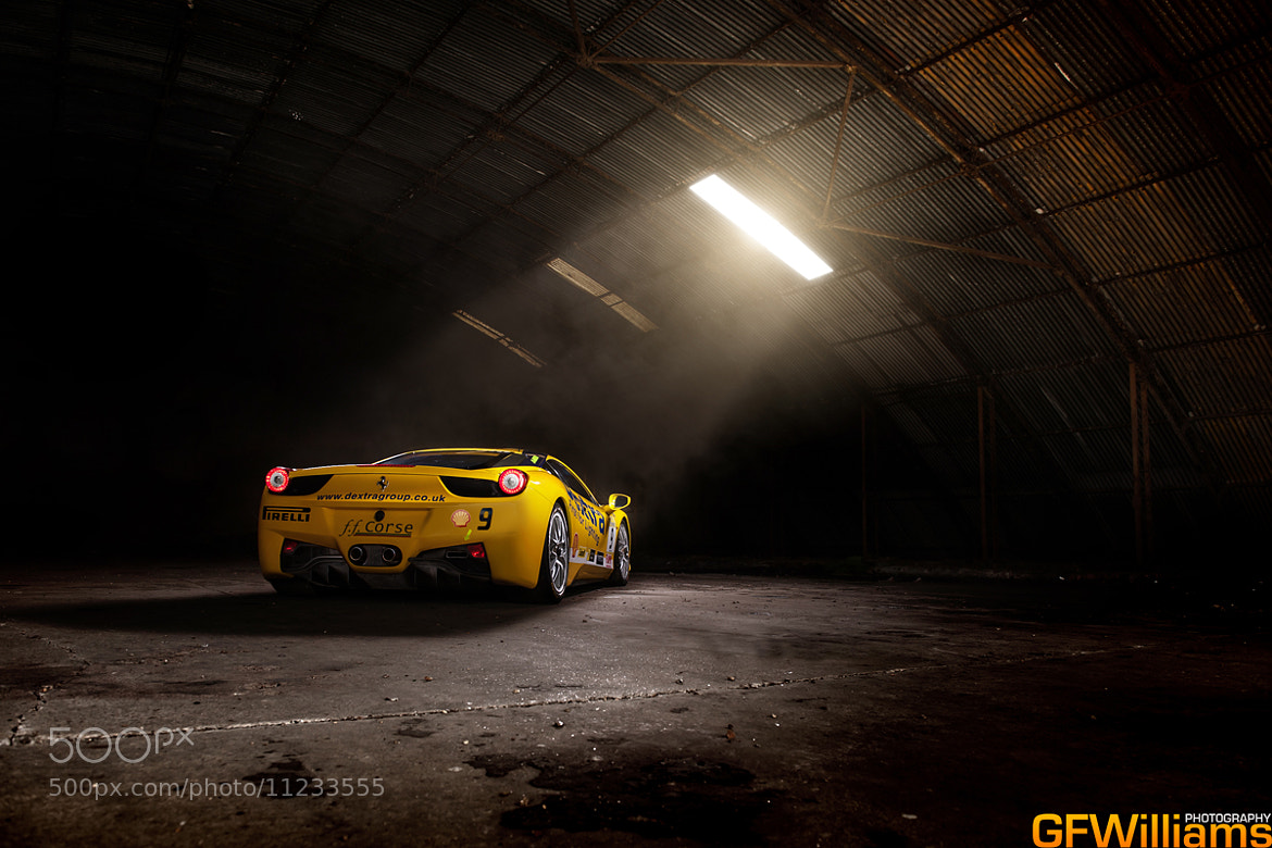 Photograph Into the light - Ferrari 458 Challenge by George Williams on 500px