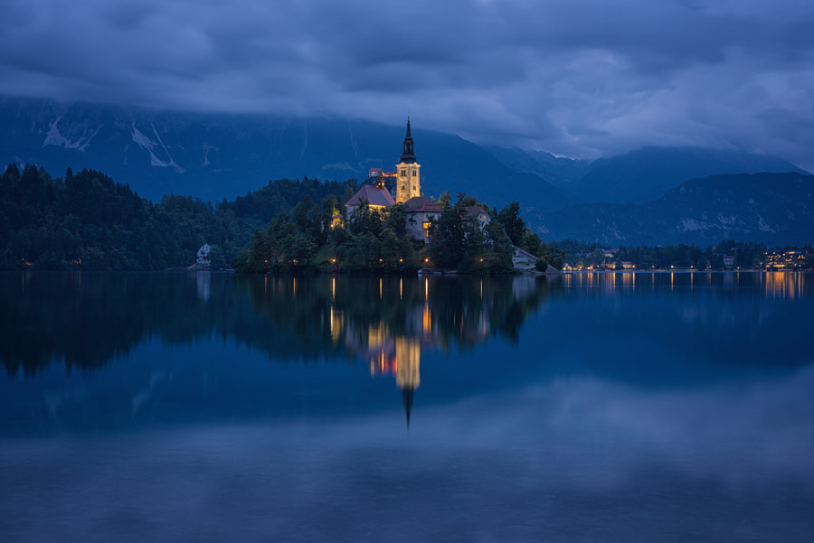 Photograph Night on Lake Bled by Brian Hammonds  on 500px