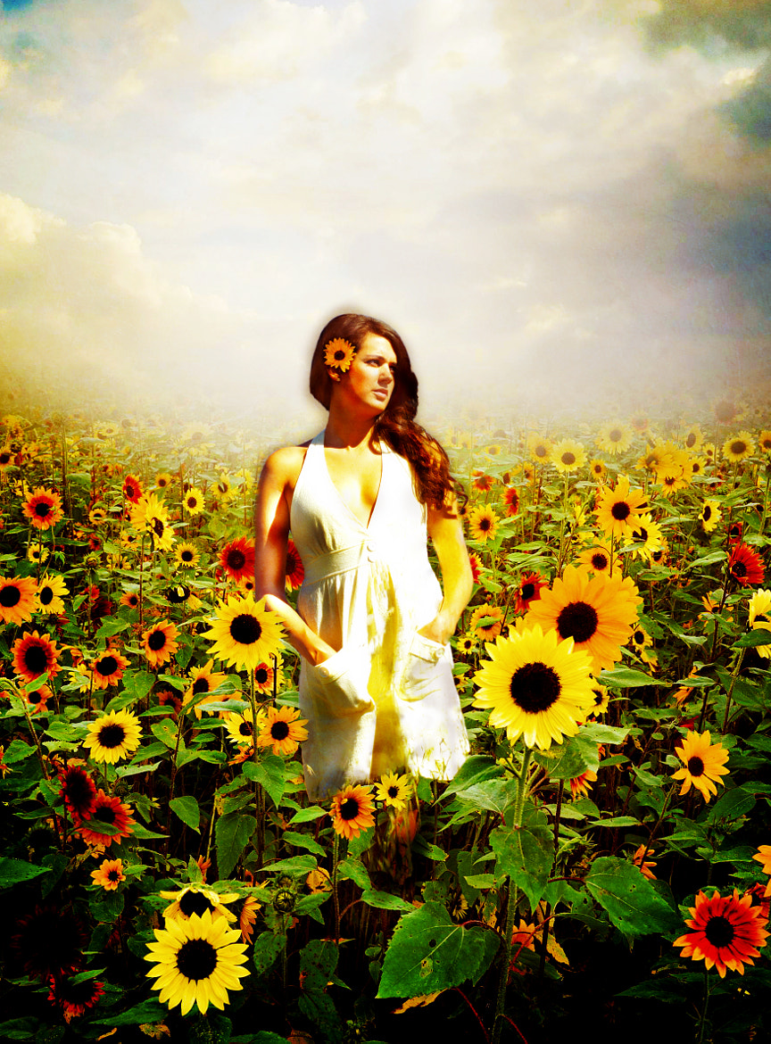 Photograph Sunflowers and Sara by Kyle Stilwell on 500px
