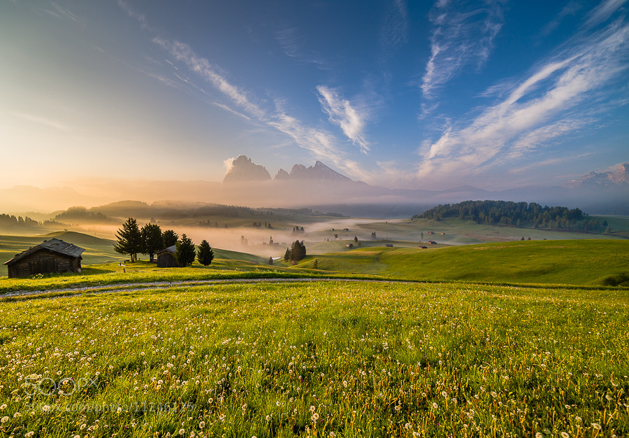 """<a href=""""http://www.hanskrusephotography.com/Landscapes/Dolomites/18016000_V9vFgv#!i=2011498527&k=x9GqQht&lb=1&s=A"""">See a larger version here</a>  This photo was taken before a photo workshop that I led in the Dolomites in June 2011."""