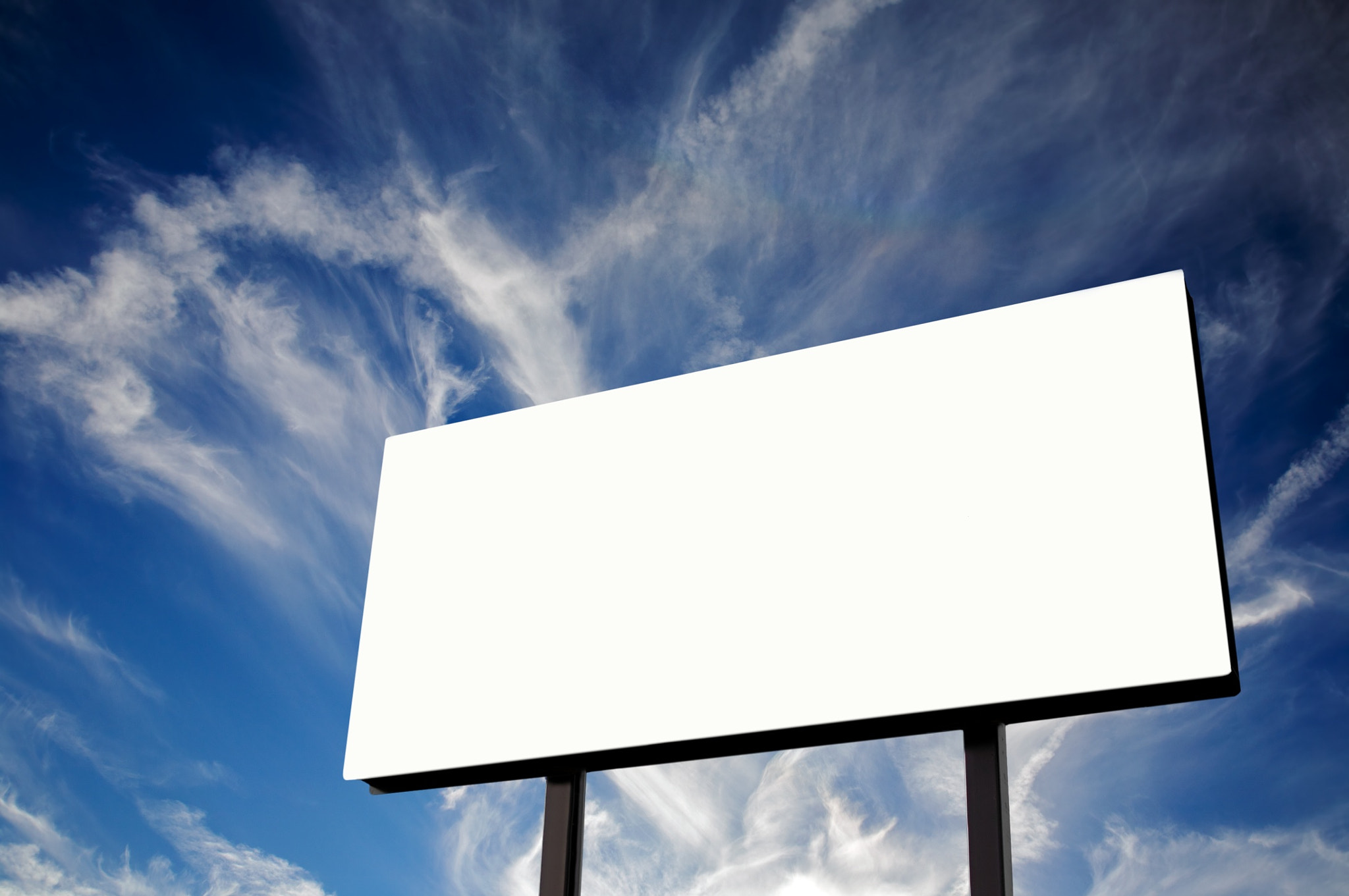 Photograph Empty Billboard and blue cloudscape by mitch aunger on 500px