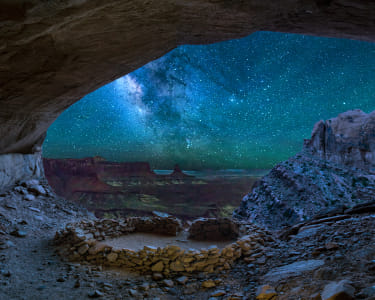 False Kiva Canyonlands Milky Way by Heather Balmain on 500px