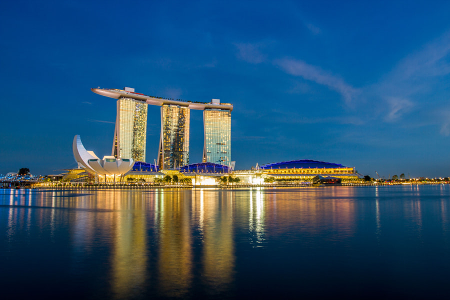 Photograph Marina Bay Sands by Fabian Van Schepdael on 500px