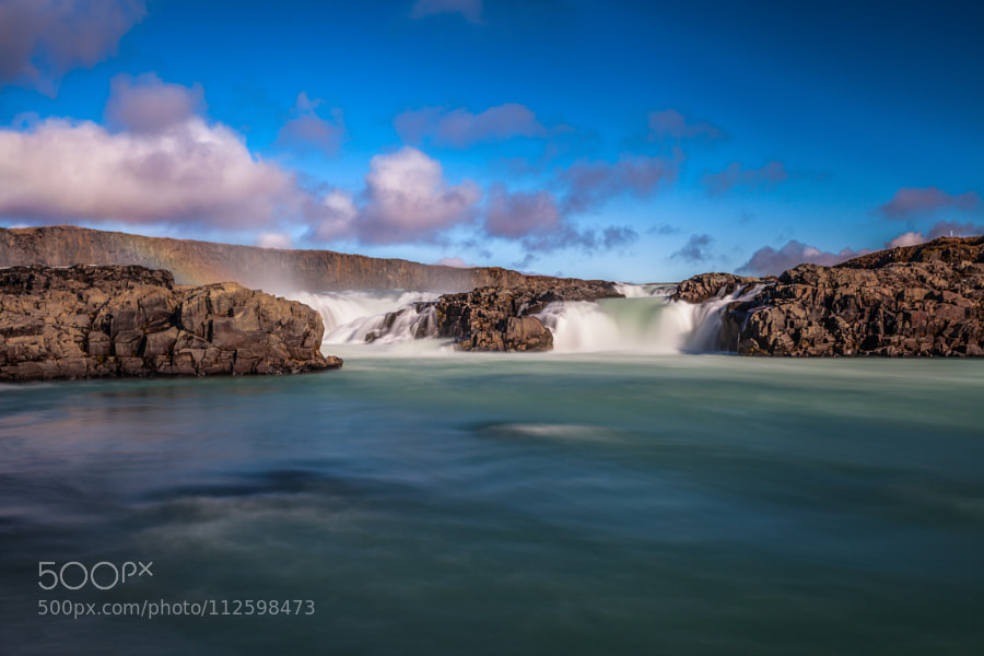 Iceland waterfall by TomBalbinder