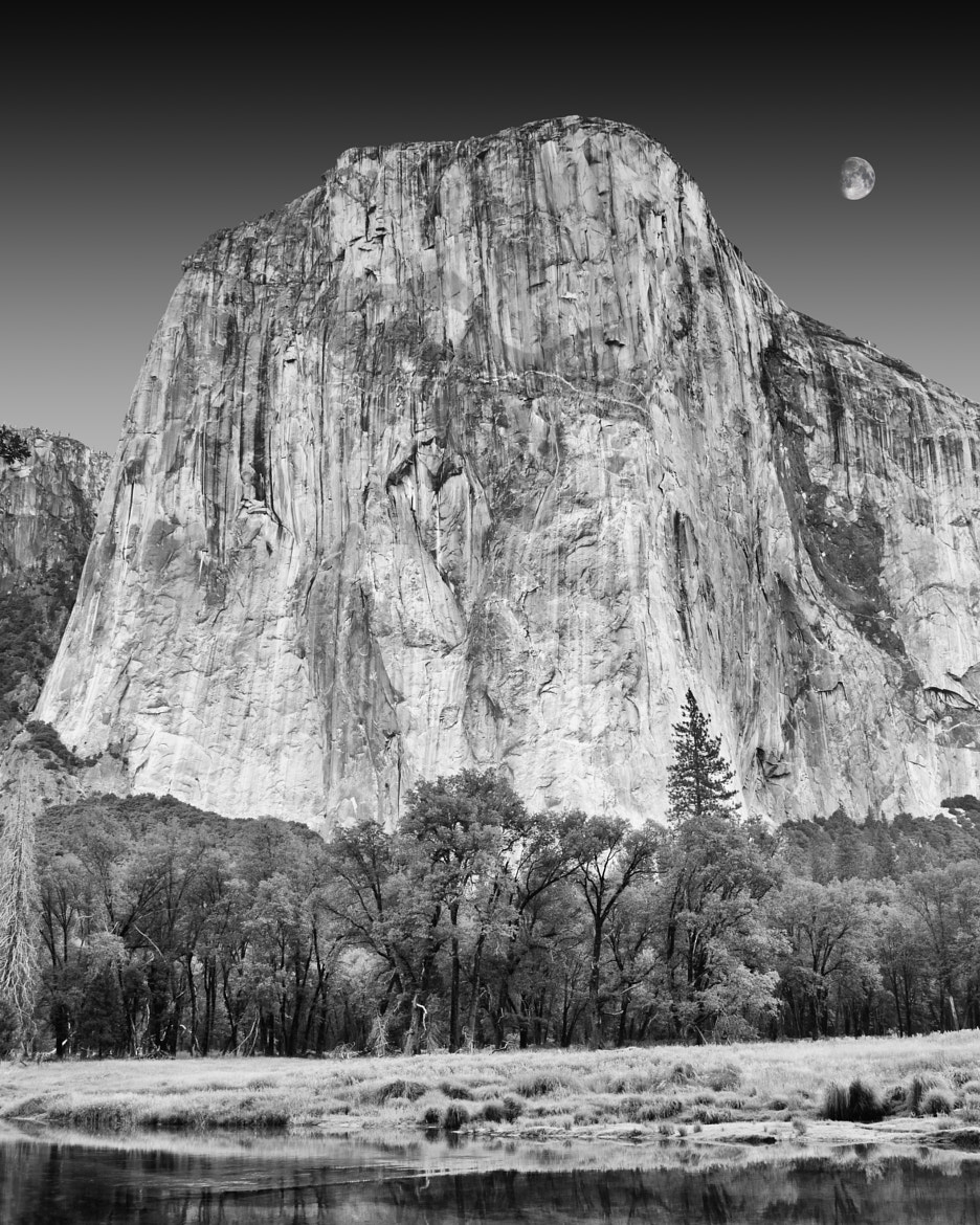 Photograph Moon over El Capitan, Yosemite, National Park, CA by Pete Paul on 500px