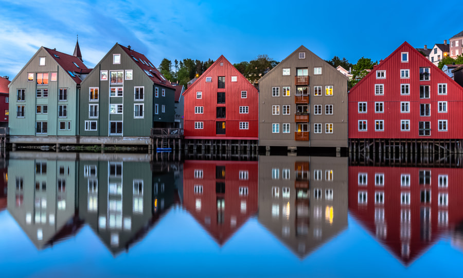 Photograph Midnight Reflection at Trondheim, Norway by Europe Trotter on 500px